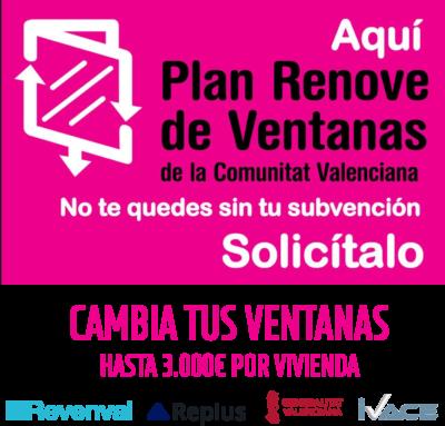 plan Renove Ventanas 2019